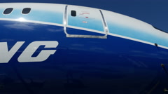 Stock Video Footage of Boeing 787 Dreamliner Exterior
