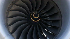 Stock Video Footage of Boeing 787 Dreamliner Engine