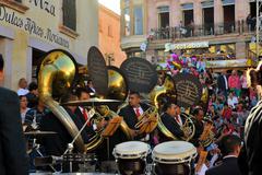 Mexican Big Band playing at Festival Cultural Internacional Zacatecas del Stock Photos