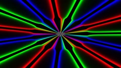 Bright spirals rotating on black . Colorful animation, 30fps, seamless loop. Stock Footage