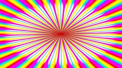 Animated illustration of bright colorful spirals rotating on white background Stock Footage