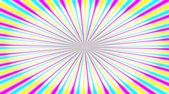 Illustration of bright colorful spirals rotating on white background Stock Footage