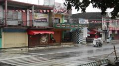 Typhoon Seniang . Jangmi hitting San Jose on panay in the Philippines Stock Footage