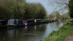 English Longboats Stock Footage