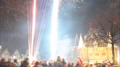 Amsterdam new year Stock Footage