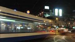 Leidseplein at night timelapse Stock Footage