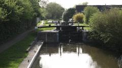 English River lock  BEST Stock Footage