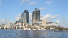 Business district Amsterdam timelapse Stock Footage