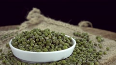 Rotating Mung Beans (not loopable) Stock Footage