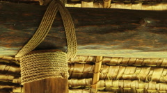 Handmade Straw Ceiling of Traditional Men's House - PALAU Stock Footage