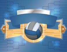 Volleyball Tournament Illustration Stock Illustration