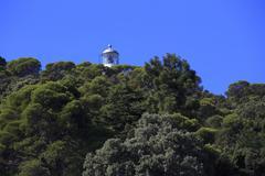 island of tino in the gulf of la spezia - stock photo