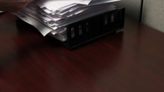 Hand Paper Scanned - stock footage