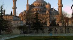 The Stunning Blue Mosque in ISTANBUL, TURKEY Stock Footage