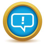 Stock Illustration of Gold answer icon