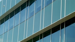 Building establishing shot modern architecture office business exterior - stock footage