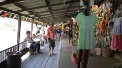The Ayothaya Floating Market Stock Footage