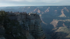 Grand Canyon National Park, overlook point wide shot, sunset Stock Footage