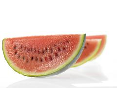 Three slices of Water Melon Stock Photos