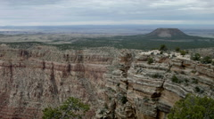 Grand Canyon National Park, geology, ridge with mesa Stock Footage