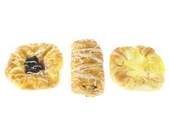 Three Danish Pastries - stock photo