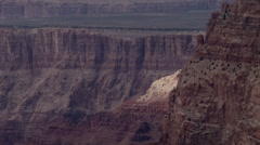 Grand Canyon National Park, sun patch on ridge Stock Footage