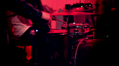 Drummer and Bassist Stock Footage