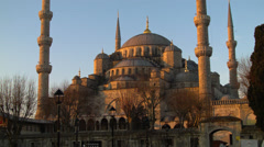 Magnificent Blue Mosque in the Morning ISTANBUL, TURKEY Stock Footage