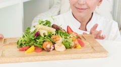 Very delicious fresh cooking hors Stock Footage