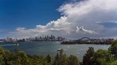Timelapse of Sydney Harbour, CBD and Harbour Bridge in 4k Stock Footage
