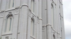The Mormon Temple at Salt Lake City Utah Stock Footage