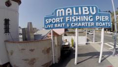 Malibu Pier and PCH Stock Footage