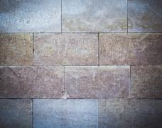Old dirty colorful tile background. Close-up. - stock photo