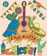 Stock Illustration of Fiesta elements
