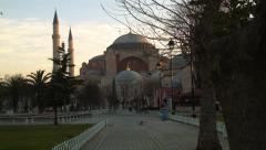 Sunrise Overlooking the Hagia Sophia ISTANBUL, TURKEY Stock Footage