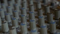 Analog  music mixer 4K UHD 2160p panning footage  Mixing console 3840X2160 4K Stock Footage