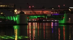 Kennedy Bridge in Tampa at Night Stock Footage
