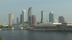 Wide Shot of Downtown Tampa Stock Footage