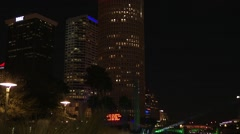 Downtown Tampa at night Stock Footage