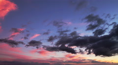 Beautiful sunset sky, time lapse Stock Footage