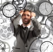 Businessman overload appointments - stock photo