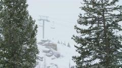 Ski resort solo chair rider - stock footage