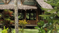 Hut, house, Ancient Structure in PALAU Stock Footage