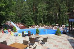 Swimming pool in the Sanatorium Russia - stock photo