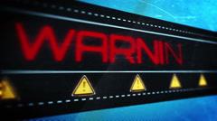 Warning low battery pixel design Stock Footage