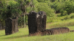 Ancient Stone Monoliths in Historic National Park - PALAU Stock Footage