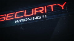 Thumb print and security warnings Stock Footage