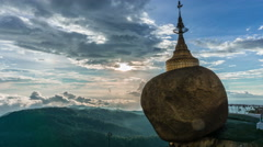 Mt. Kyaikhteeyoe - Golden rock Pagoda Stock Footage