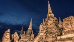Wat Phra Si Sanphet, Ayutthaya Stock Footage