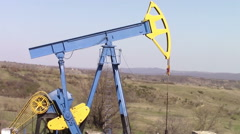 Oil well extraction pump Stock Footage